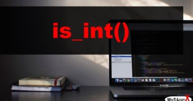 PHP is_int
