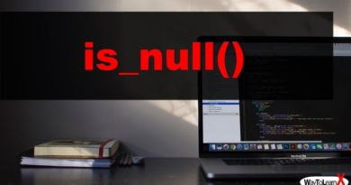 PHP is_null