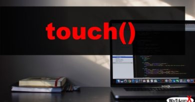 PHP touch