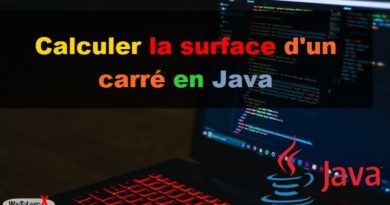 Calculer la surface d'un carré en Java