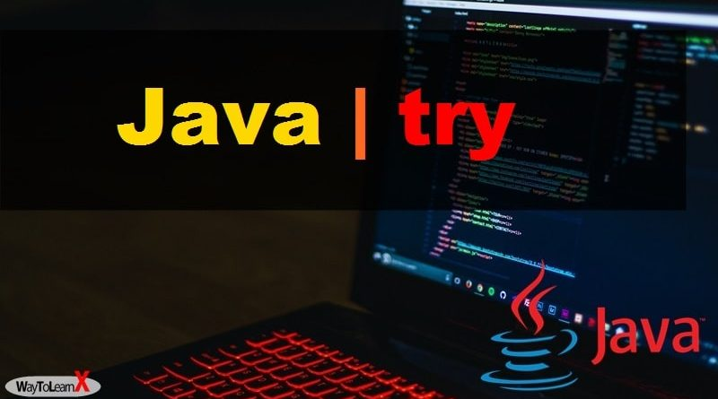 Java - try