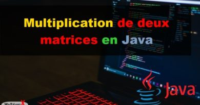 Multiplication de deux matrices en Java