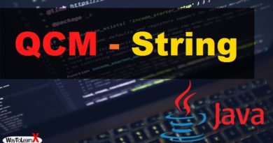 QCM java String
