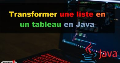 Transformer une liste ArrayList en tableau en Java