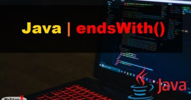 java endsWith