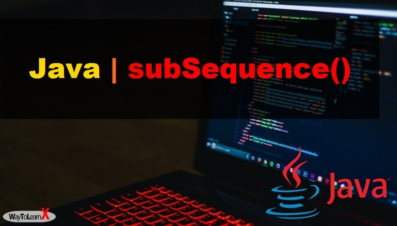 java subSequence