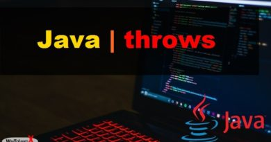 java throws