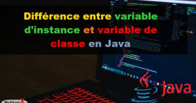 Différence entre variable d'instance et variable de classe en Java