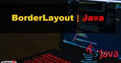 BorderLayout java swing