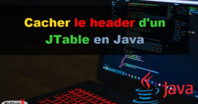 Cacher le header d'un JTable en Java