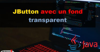 JButton avec un fond transparent