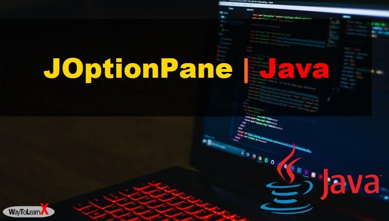 JOptionPane java swing