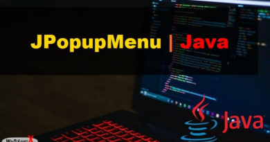 JPopupMenu java swing
