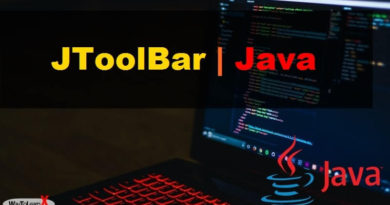 JToolBar java swing
