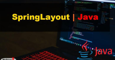 SpringLayout java swing
