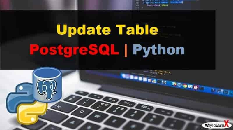 Update Table avec Python - PostgreSQL