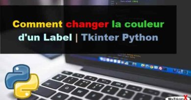 Comment changer la couleur d'un Label - Tkinter Python