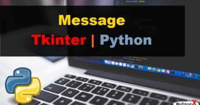 Message Tkinter Python 3